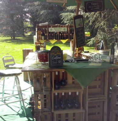 Weinstand auf Gartenfest - Wein Hicks Paderborn